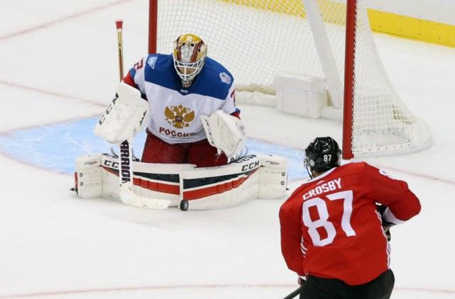 Sergei Bobrovsky a été étincelant contre le Canada... (Photo Charles LeClaire, USA TODAY Sports)