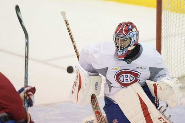 Al Montoya part favori seconder Carey Price.... (PHOTO GRAHAM HUGHES, PC)