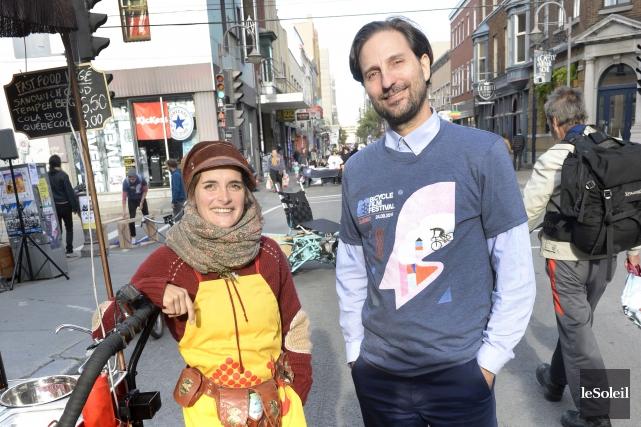 Le fondateur du Bicycle Film Festival,Brendt Barbur, en... (Le Soleil, Jean-Marie Villeneuve)