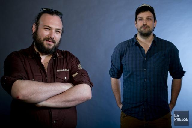 Les cinéastes Jean-Marc E. Roy et Philippe David... (Archvies La Presse)