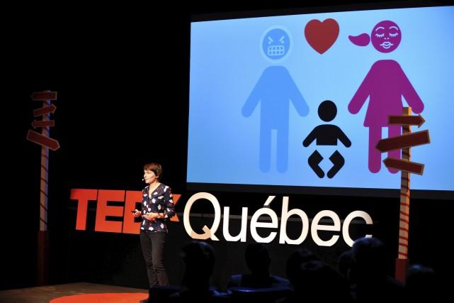 Jeanne Lagabrielle, conférencière lors du TEDxQuébec 2015... (Daniel Lévesque)