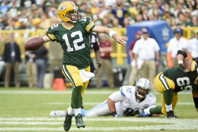 Aaron Rodgers... (PHOTO Benny Sieu, USA TODAY Sports)