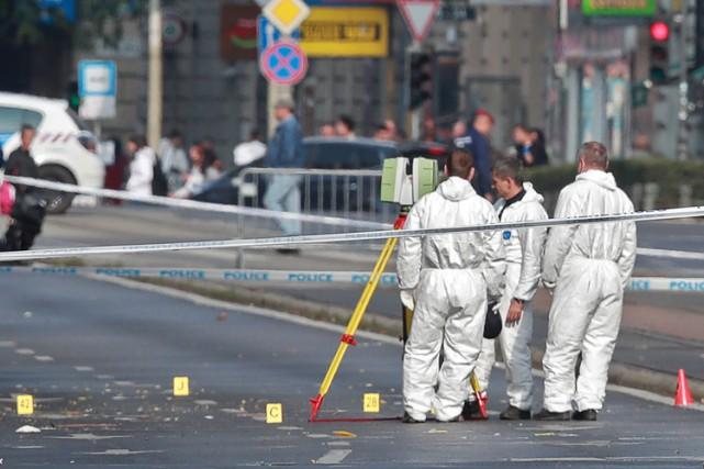 L'explosion, qui a été entendue à de nombreux... (PHOTO AFP)
