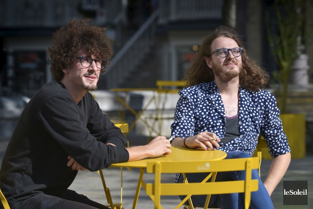Alexandre Martel et Julien Déry, du groupe Mauves... (Le Soleil, Yan Doublet)