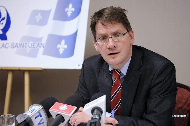 Le chef intérimaire du Parti québécois, Sylvain Gaudreault... (Archives Le Quotidien, Mariane L. St-Gelais)