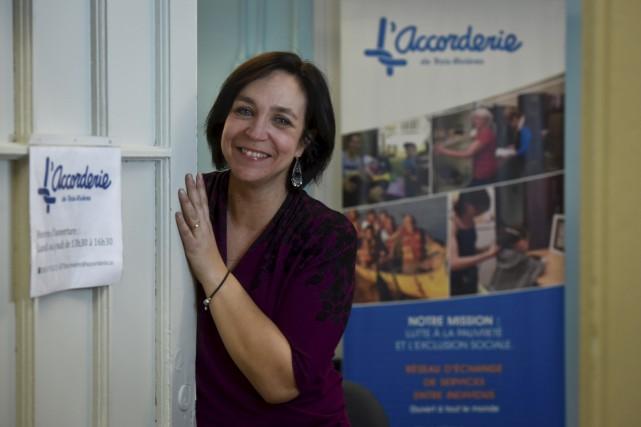 Marie-Claude Camirand, coordonnatrice de l'Accorderie.... (François Gervais)
