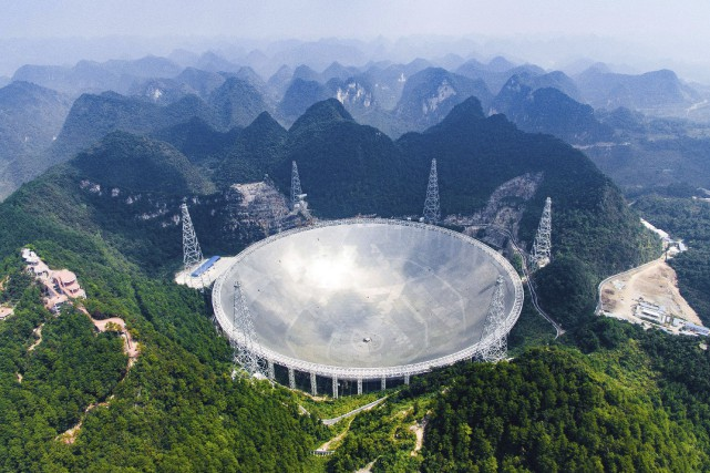 Appelé par les scientifiques Five-hundred-metre Aperture Spherical Radio... (AP, Liu Xu/Xinhua)