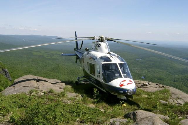 Au total, trois hélicoptères ont été mobilisés pour... (Archives, Le Quotidien)