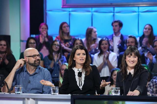 Ricardo Trogi, Kim Lévesque Lizotte et Anne-Élisabeth Bossé... (Photo Karine Dufour, fournie par ICI Radio-Canada)