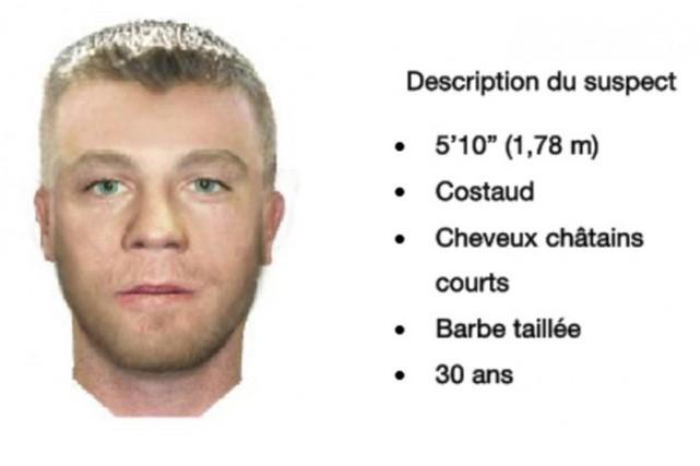 Portrait-robot du suspect d'une agression sexuelle grave commise... (Service de police de la Ville de Québec)
