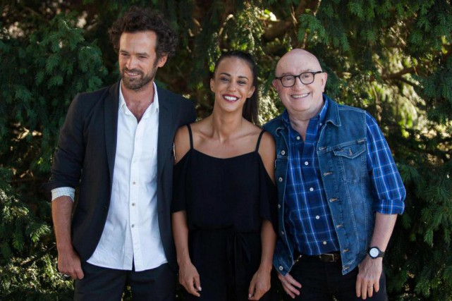 Les comédiens Romain Duris, Alice Belaidi et Michel... (PHOTO YOHAN BONNET, AGENCE FRANCE-PRESSE)