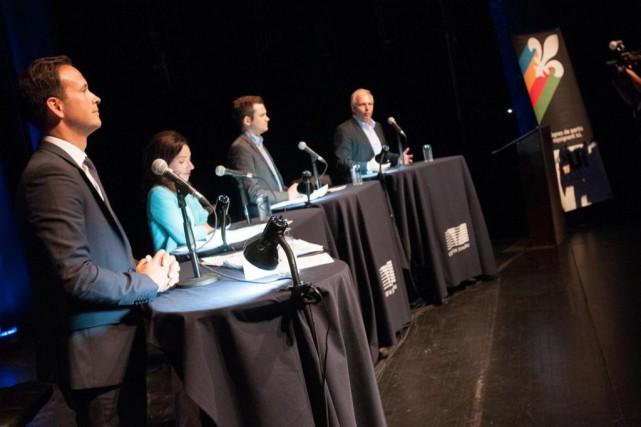Les candidats à la direction du Parti québécois... (Archives, La Presse)