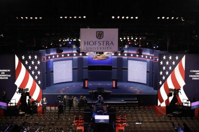 Le débat aura lieu à l'université Hofstra, près... (PHOTO AP)