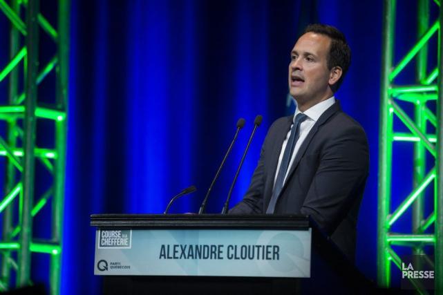 Alexandre Cloutier au débat de la course à... (PHOTO OLIVIER PONTBRIAND, LA PRESSE)