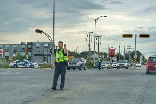 Les agents du Service de police de la... (Patrick Woodbury, LeDroit)
