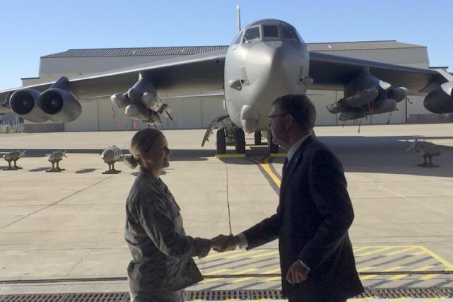 Le secrétaire à la Défense américain Ashton Carter... (PHOTO AP)