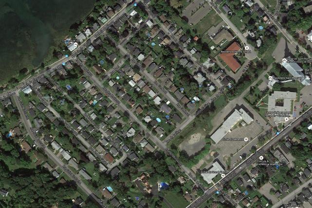 La rue des Bouleaux, à Saint-Romuald, devenue la... (Image tirée de Google Maps)