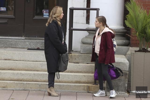 Devant la caméra, Céline Bonnier renoue avec Alice... (Janick Marois, La Voix de l'Est)