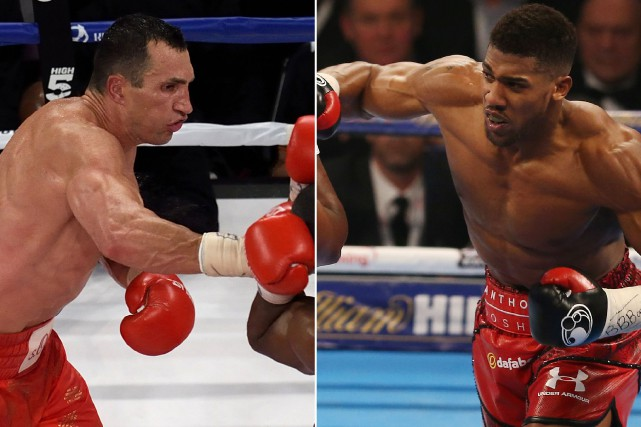 Vladimir Klitschko et Anthony Joshua... (Photos archives AFP)