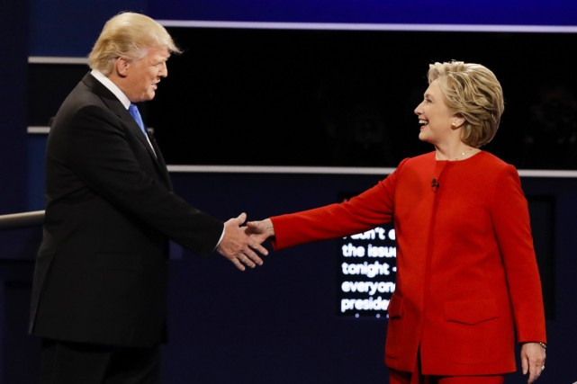 La démocrate Hillary Clinton et le républicain Donald... (photo David Goldman, AP)