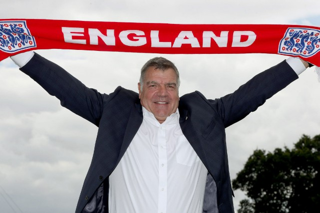 Le sélectionneur de l'Angleterre, Sam Allardyce.... (Photo AP)