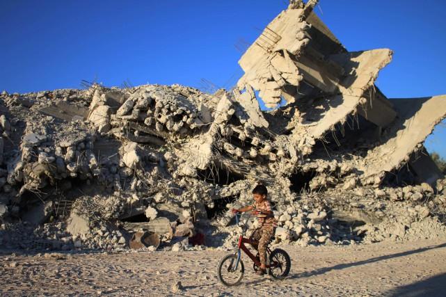 Les États-Unis estiment que cette aide d'urgence (alimentation,... (PHOTO MOHAMAD ABAZEED, AFP)