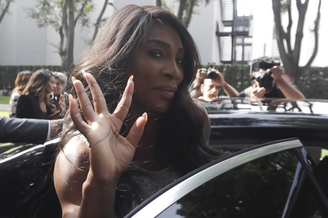 Serena Williams était à Milan, en Italie, vendredi... (PHOTO AP)