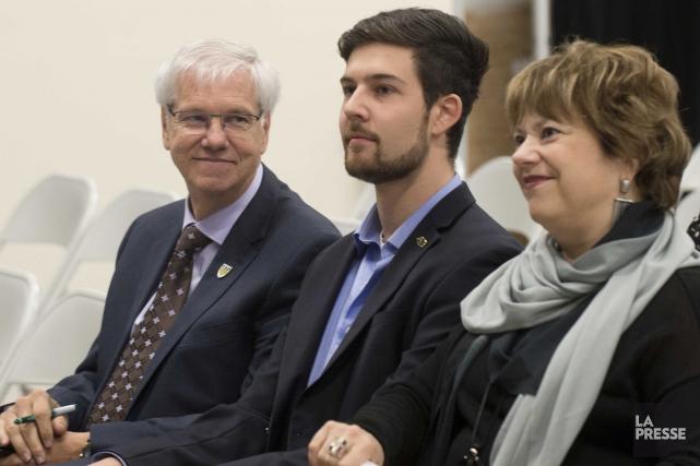 De gauche à droite: le recteur de l'UQTR,... (Sylvain Mayer)