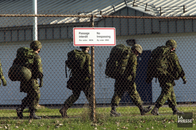 Une équipe spéciale des Forces armées canadiennes (FAC) est en place pour... (PHOTO MARTIN CHAMBERLAND, ARCHIVES LA PRESSE)