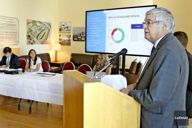 Le mouvement Ottawa bilingue, dont fait partie Lucien... (Patrick Woodbury, LeDroit)