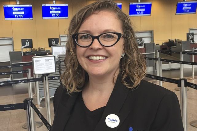 Sophie Lambert travaille à l'aéroport depuis quatre ans.... (Fournie par Sophie Lambert)