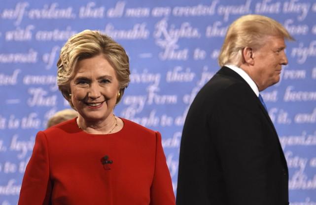 Durant le face-à-face de lundi, Donald Trump a... (AFP, Timothy A. Clary)