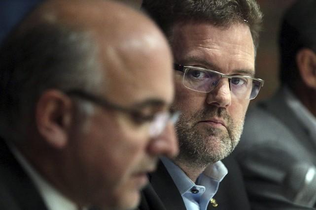 Le président de VMSO, Alain Sanscartier, et le... (Patrick Woodbury, LeDroit)