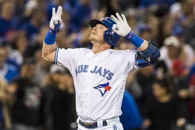 Josh Donaldson a encore une fois donné le... (La Presse canadienne, Mark Blinch)