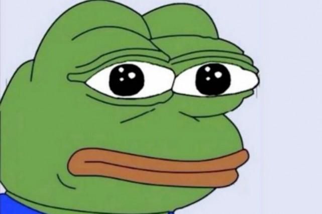 L'insouciante image d'une grenouille à la peau verte et aux lèvres rouges, le «... (image the daly beast/twitter)