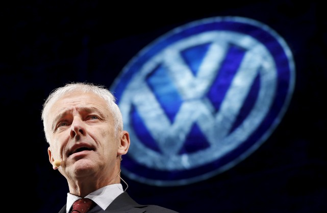 Le grand patron de Volkswagen Matthias Müller est... (photo REUTERS)