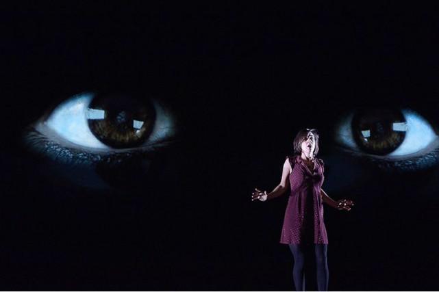La comédienne Alice Pascual est sublime dans Terminus,... (Photo Suzanne O'Neill, fournie par La Licorne)