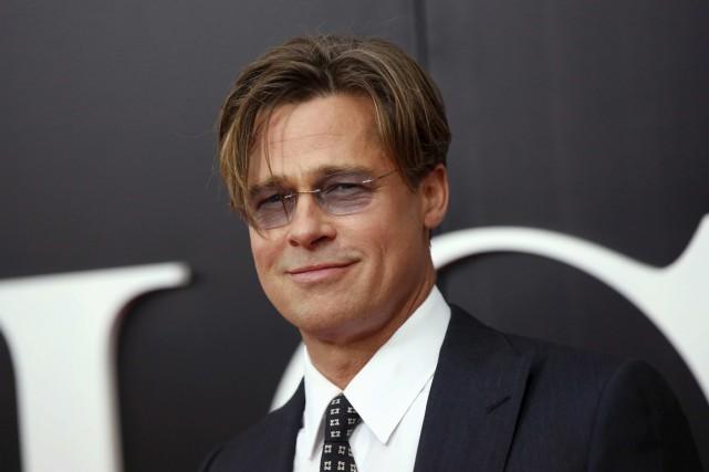 Brad Pitt poses, en septembre 2015, lors de... (Photo Shannon Stapleton, REUTERS)