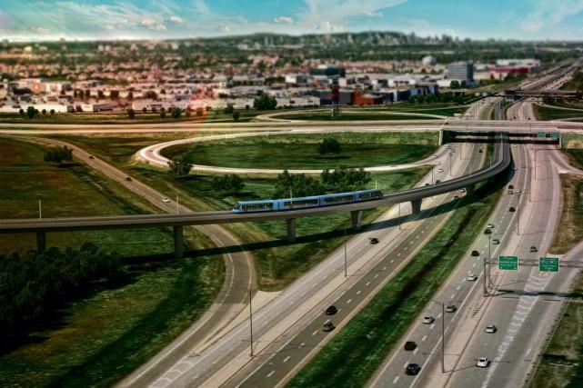 La gare terminale de l'antenne de la Rive-Sud... (IMAGE FOURNIE PARCDPQ INFRA)