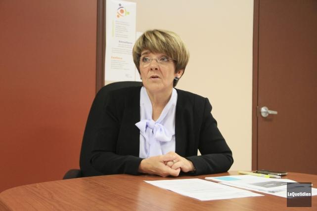 La présidente-directrice générale du CIUSSS du Saguenay-Lac-Saint-Jean, Martine... (Photo Le Quotidien, Yohann Gasse)