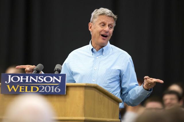 Le libertarien Gary Johnson est resté sans voix... (AP, Scott Morgan)