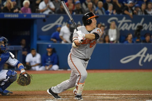 Hyun Soo Kim a claqué un cricuit de... (Photo Dan Hamilton, USA Today Sports)