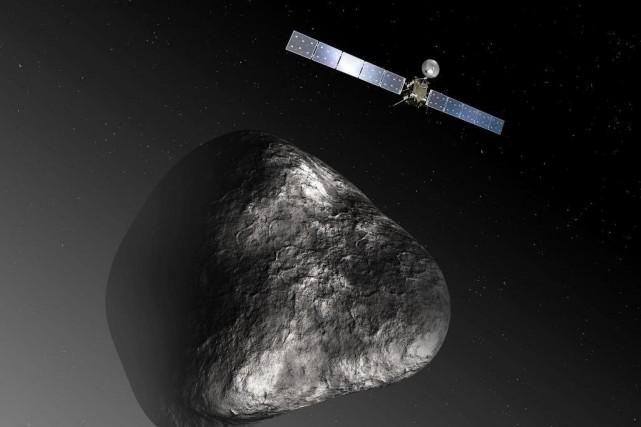 Demain à l'aube, la sonde européenne Rosetta s'écrasera... (PHOTO FOURNIE PAR L'AGENCE FRANCE-PRESSE)