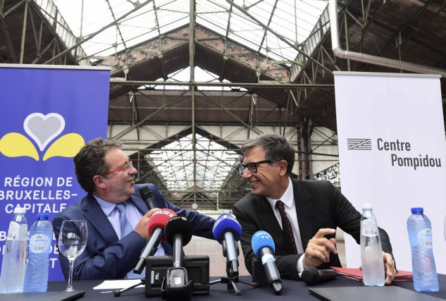 Rudi Vervoordt, président de la région Bruxelles-Capitale et... (PHOTO AFP)