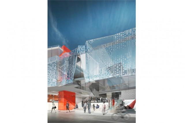 Maquette de lala salle multifonctionnelle que se partageront... (Image fournie par la Maison Théâtre)