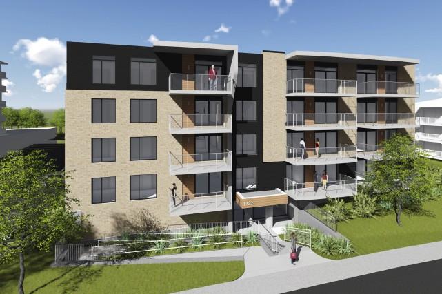 L'entrée principale de l'immeuble sera située au niveau... (Image fournie par Sublime Architecture)