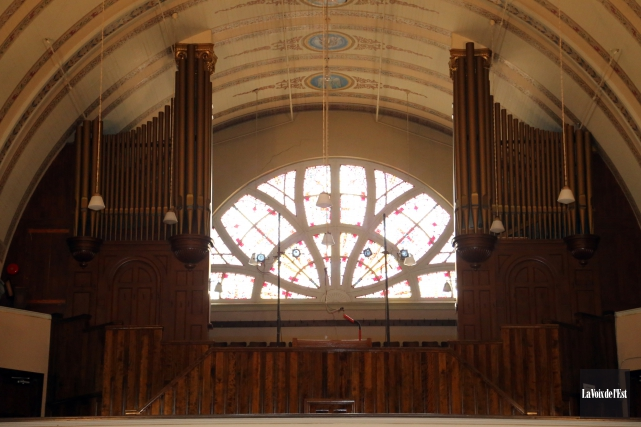 L'orgue de l'église Notre-Dame, à Granby... (Archives La Voix de l'Est)
