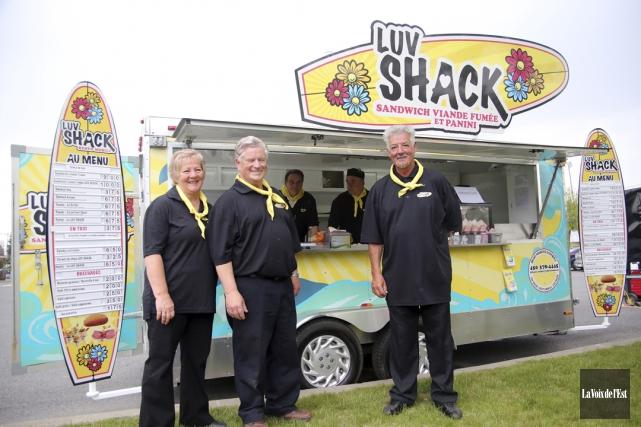 Le camion de cuisine de rue Luv Shack... (archives La Voix de l'Est)