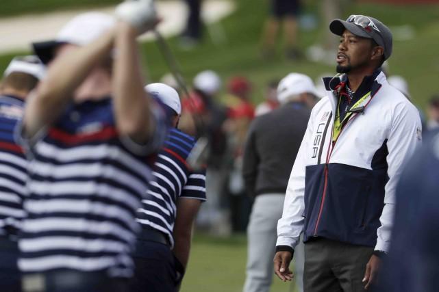 Pour la première fois depuis 2008, Tiger Woods... (AP, Chris Carlson)