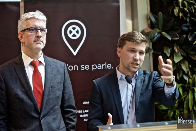 Jean-Martin Aussant et Gabriel Nadeau-Dubois... (La Presse, André Pichette)